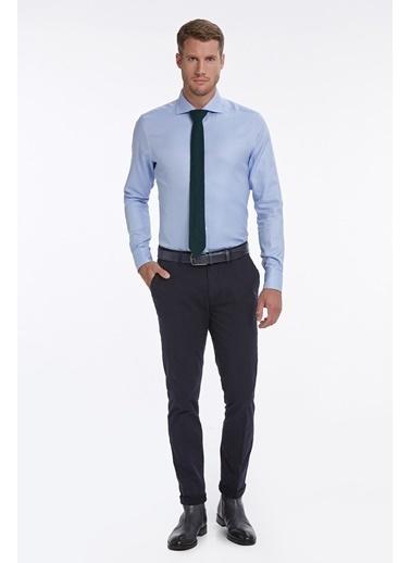 Hemington Italyan Yaka Mavi Business Gömlek Mavi